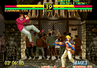 Art of Fighting 3: The Path of The Warrior Arcade Powerful hit.