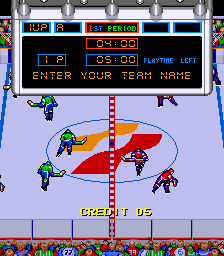 Blades of Steel Arcade Enter your name.