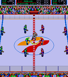Blades of Steel Arcade Start of the match.