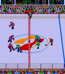 Blades of Steel Arcade Opposition attacking.