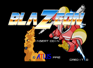 BlaZeon Arcade Title Screen.