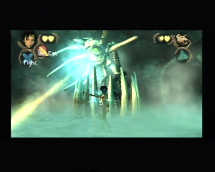 Beyond Good & Evil PlayStation 2 Jade's very first boss battle, and it starts as quickly as the game opening.