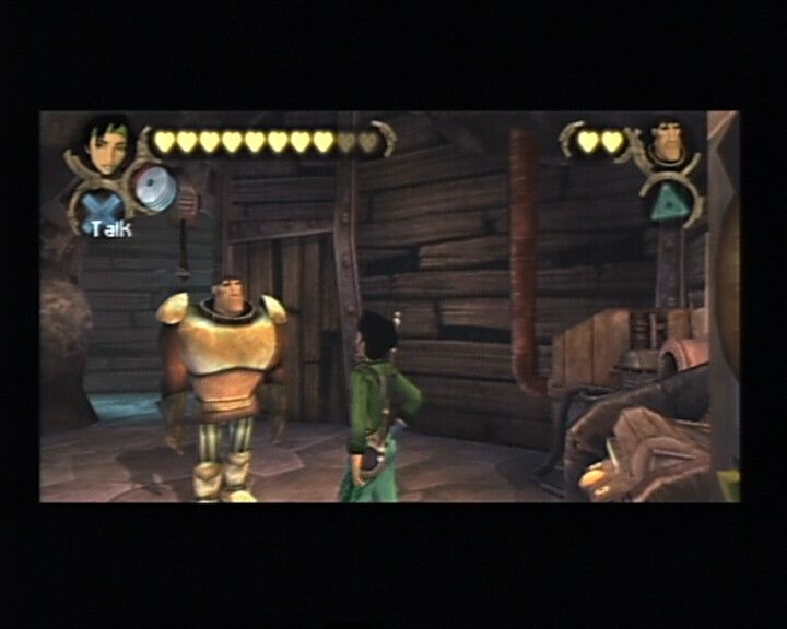 Beyond Good & Evil PlayStation 2 As you progress, your health bar will increase, but you have to take care of your sidekick and give him some food for healing during battles.