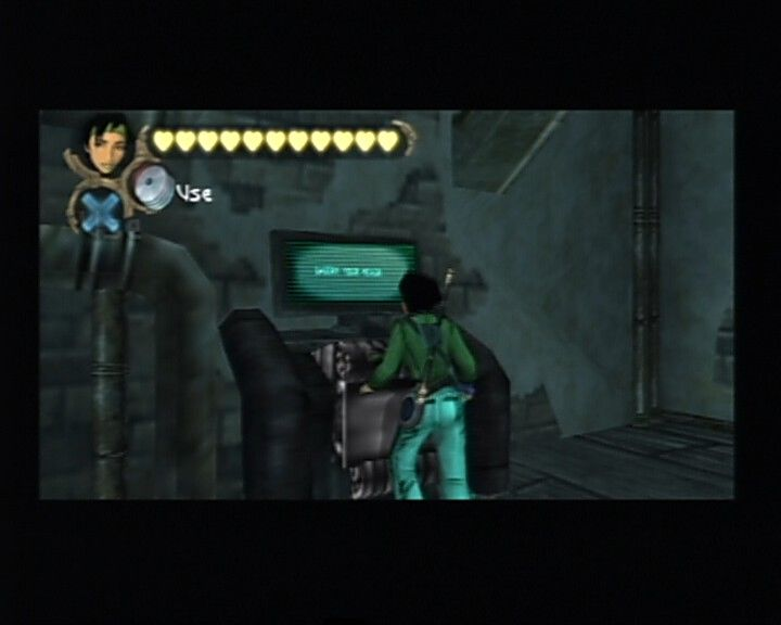 Beyond Good & Evil PlayStation 2 Disc reader is the only place to read messages as well as to save a game.