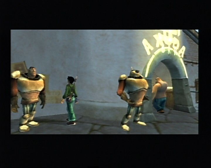Beyond Good & Evil PlayStation 2 Akuda bar, a place where secret rebel hideout lies.