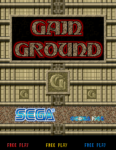 Gain Ground Arcade Title Screen.