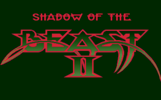 Shadow of the Beast II FM Towns Title screen