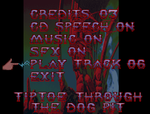 Shadow of the Beast II FM Towns Main menu