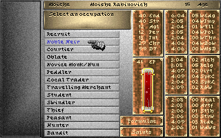 Darklands DOS Meet Moishe Rabinovich, a Noble Heir in medieval Germany! Oy, justice at least through games! :)