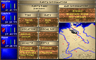 Darklands DOS Party formation