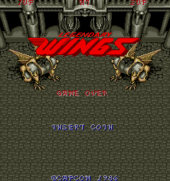 Legendary Wings Arcade Title Screen.