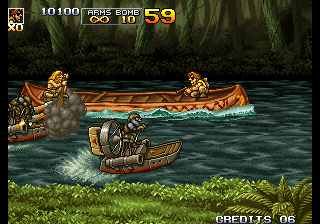 Metal Slug 5 Arcade Take them boats out.