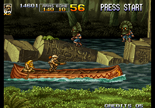Metal Slug 5 Arcade Shoot the natives.
