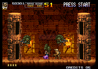 Metal Slug 5 Arcade Destroy them towers.