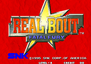 Real Bout Fatal Fury Arcade Title Screen.