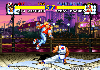 Real Bout Fatal Fury Arcade Low sweep.