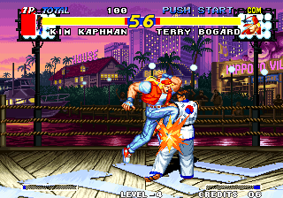 Real Bout Fatal Fury Arcade Knee to the head.