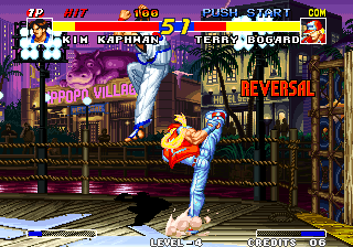 Real Bout Fatal Fury Arcade Missed his kick.