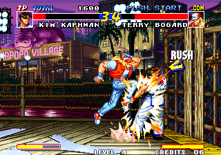Real Bout Fatal Fury Arcade Another knee to the head.