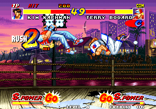 Real Bout Fatal Fury Arcade Knocked him back.