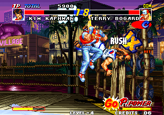 Real Bout Fatal Fury Arcade Finishing you off.
