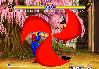 Real Bout Fatal Fury 2: The Newcomers Arcade Swing that cape.
