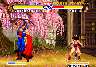 Real Bout Fatal Fury 2: The Newcomers Arcade Sizing each other up.