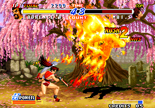 Real Bout Fatal Fury 2: The Newcomers Arcade Burst into flames.