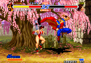 Real Bout Fatal Fury 2: The Newcomers Arcade Jump.
