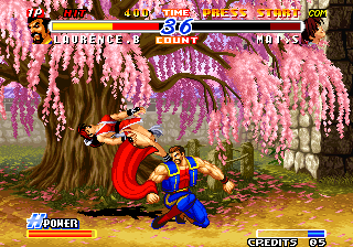 Real Bout Fatal Fury 2: The Newcomers Arcade A quick flick of the cape.