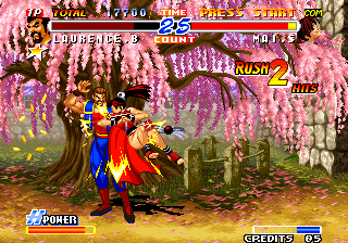 Real Bout Fatal Fury 2: The Newcomers Arcade Flying punch.