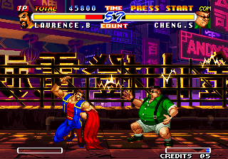 Real Bout Fatal Fury 2: The Newcomers Arcade Crouching.