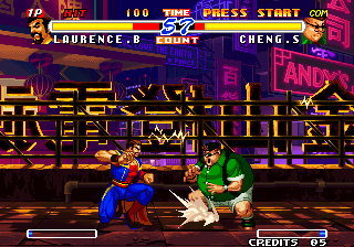 Real Bout Fatal Fury 2: The Newcomers Arcade Low kick.