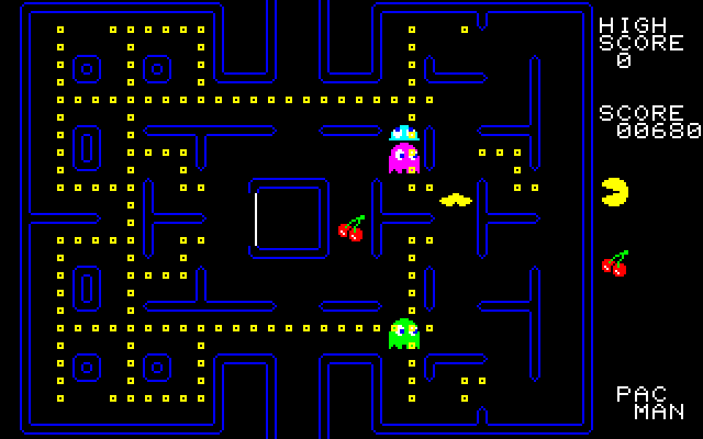 Pac-Man PC-88 Killed by a ghost