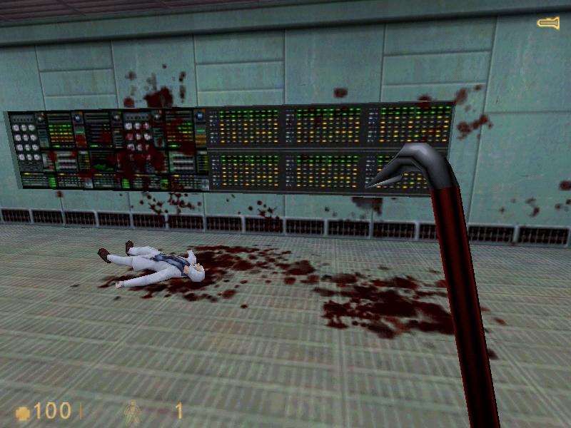 Half-Life Windows A crowbar can make a real mess out of an old man