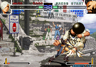 The King of Fighters 2002: Challenge to Ultimate Battle Arcade Angel's hard hit