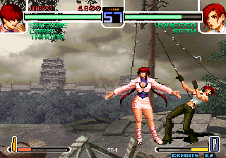 The King of Fighters 2002: Challenge to Ultimate Battle Arcade Vanessa is stunned