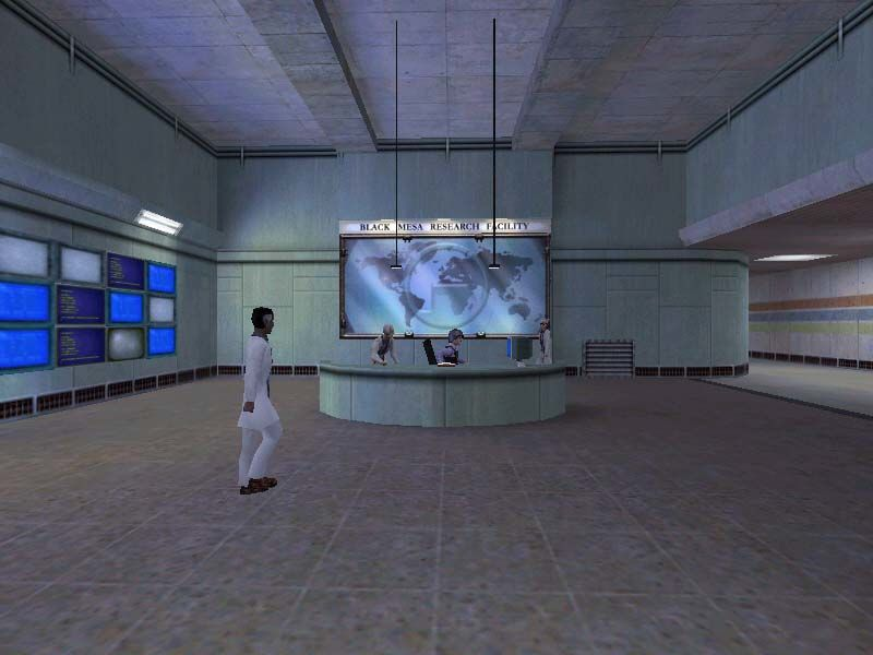 Half-Life Windows The beginning of the game is peaceful. Welcome to the Black Mesa Research Facility!
