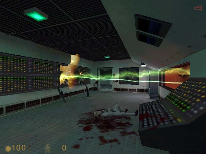 Half-Life Windows Half-Life is full of destruction. All hell breaks loose very soon
