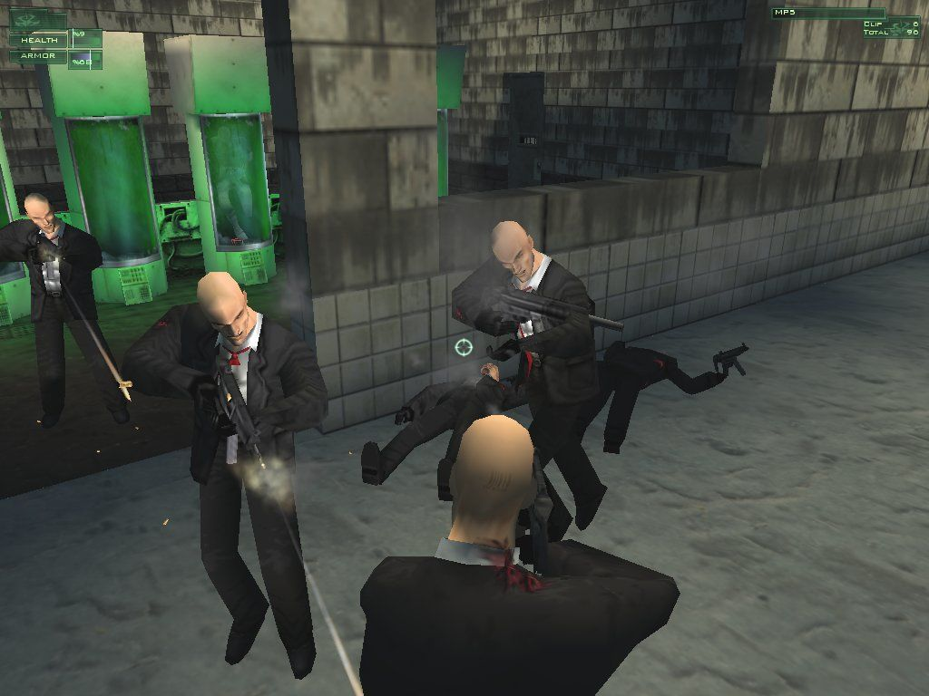 Hitman: Codename 47 Windows The family reunion: Mr. 47, meet Mr. 48... and Mr. 48... and Mr. 48...