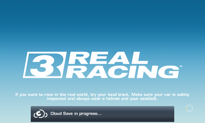 Real Racing 3 Android Loading screen