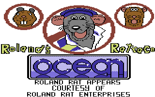 Roland's Ratrace Commodore 64 Title Screen.