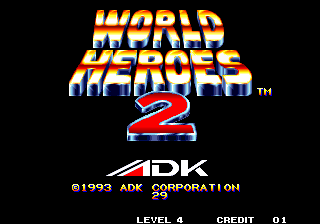 World Heroes 2 Arcade Title Screen.