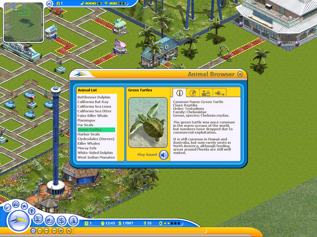 Seaworld adventure parks tycoon screenshots for windows mobygames seaworld adventure parks tycoon windows want to learn about your animals look them up in gumiabroncs Gallery