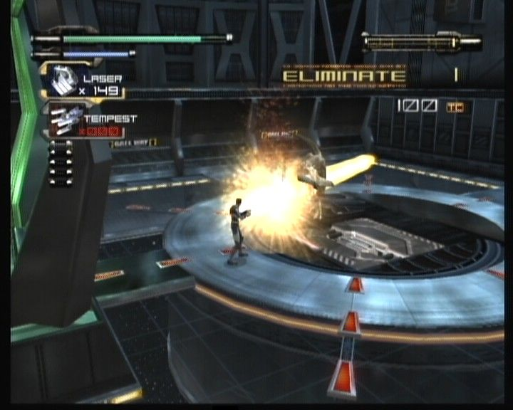 Dino Crisis 3 Xbox Laser weapon is the most effective against bigger