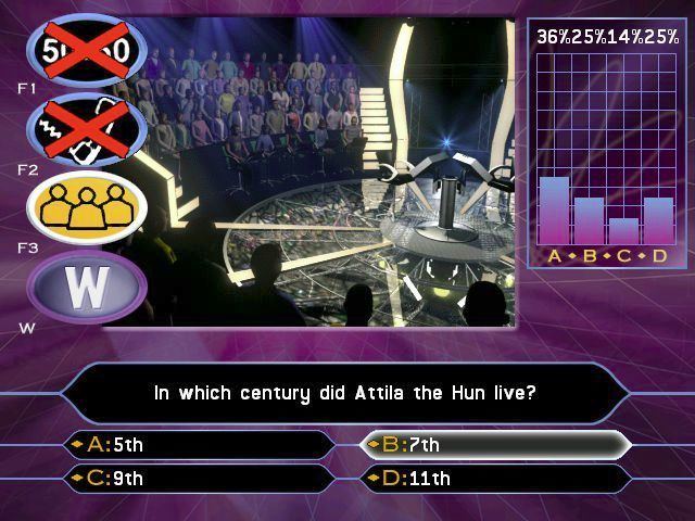 Who Wants to Be a Millionaire: 2nd Edition Windows Here the 'Ask the Audience' option has been used