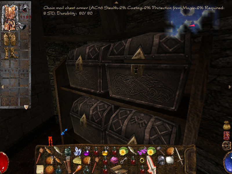 Arx Fatalis Windows Buying and selling - just open a chest in a store and transaction begins. Unfortunately, you can't steal those items