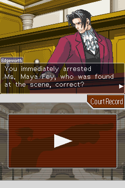 Phoenix Wright: Ace Attorney Nintendo DS The feared prosecutor Miles Edgeworth.
