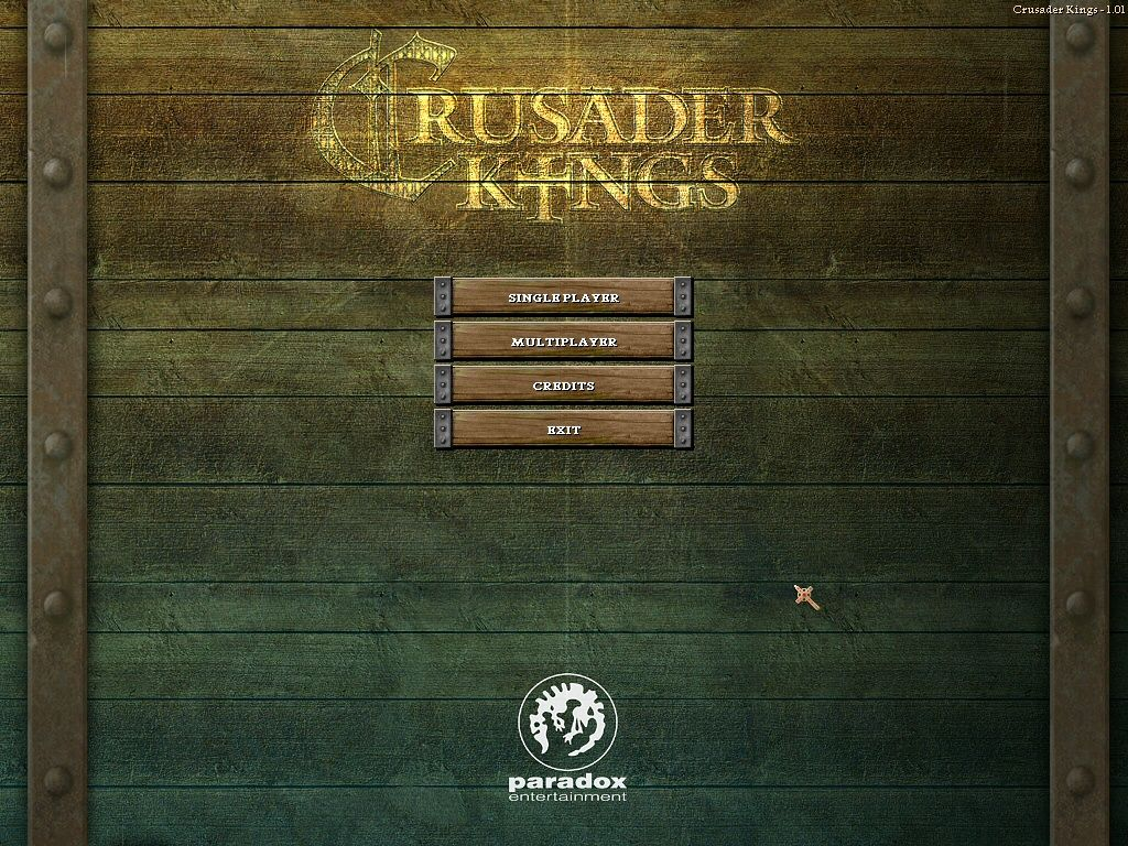Crusader Kings Windows Start screen