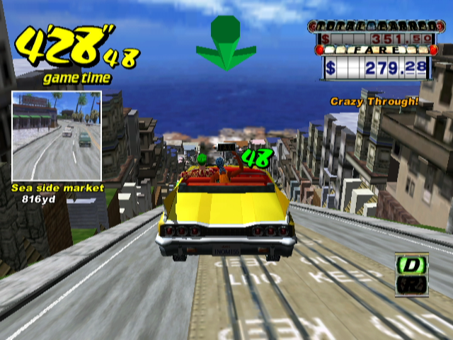 Crazy Taxi GameCube Now THAT is a crazy jump.